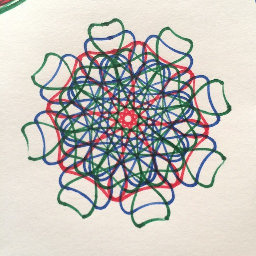 Spirograph drawing by vmbrasseur on Flickr; Licensed CC BY-NC