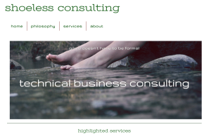 Click to go to the shoeless consulting website